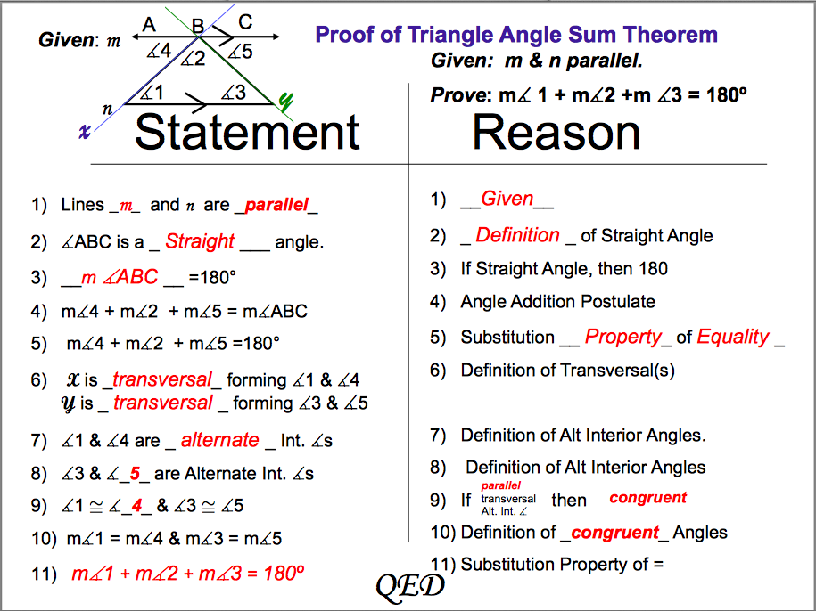 Printable Worksheets triangle sum theorem worksheets : TRI: Triangle Congruence and Proof - Geometry